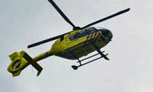 Avondlessen traumahelikopter