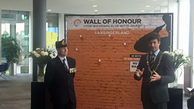Opening The Wall of Honour